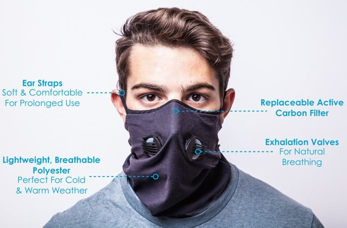 Inversion Air Pollution Gaiter 2.0 Will Save Your Lungs from Pollution 1
