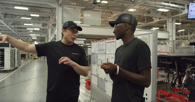 MKBHD Tours Tesla's Fremont Factory with CEO Elon Musk 1