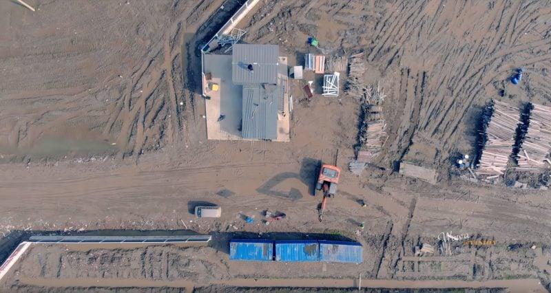 Watch Tesla's Gigafactory 3 Shanghai in New Drone Video 1