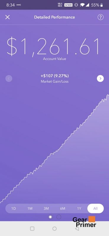 Acorns Review: One Year Investment Results 7