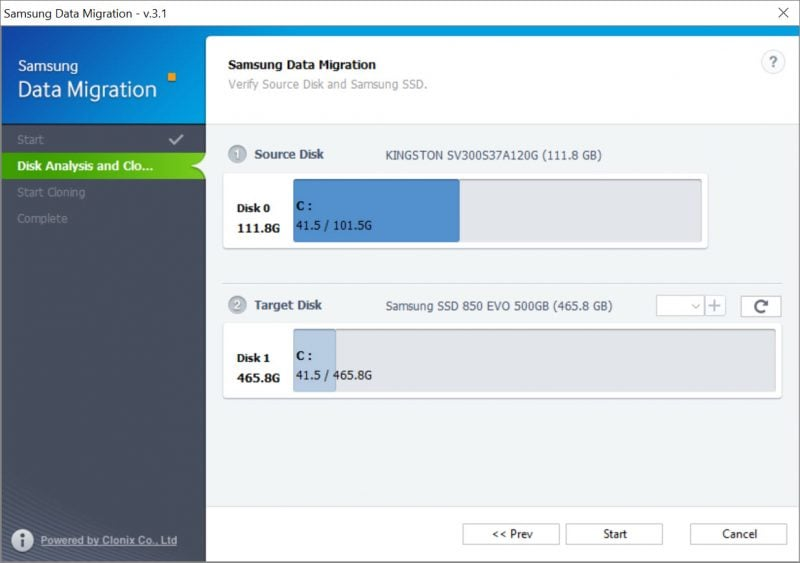 Migrate Windows 10 to SSD Using Samsung Data Migration Software 2