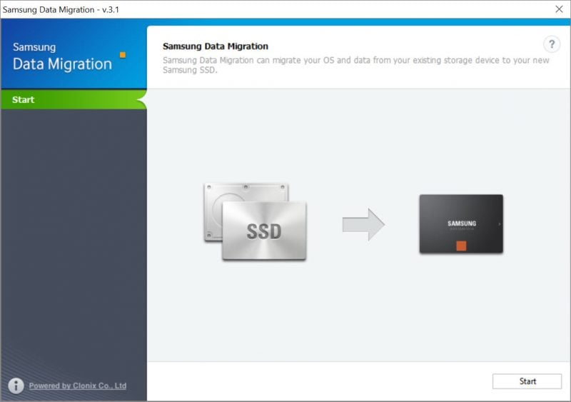 Migrate Windows 10 to SSD Using Samsung Data Migration Software 1