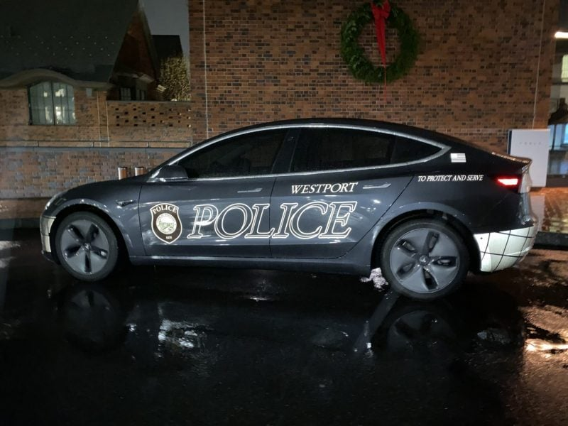 Westport Police Department Tesla Model 3