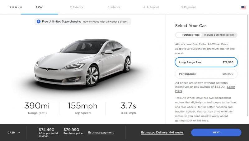 Tesla Increases Model S/X Range, Model S Now Up to 390/351 Miles 1