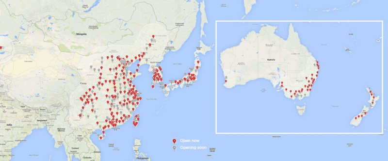Tesla Supercharger Station Deployments Reach 1,821, Stalls Reach 16,104 4