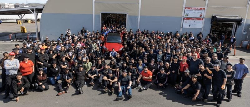 Tesla Manufactures 1,000,000th Vehicle, a Red Tesla Model Y 1